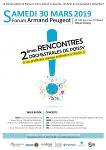 AFFICHE rencontres orchestrales 2019