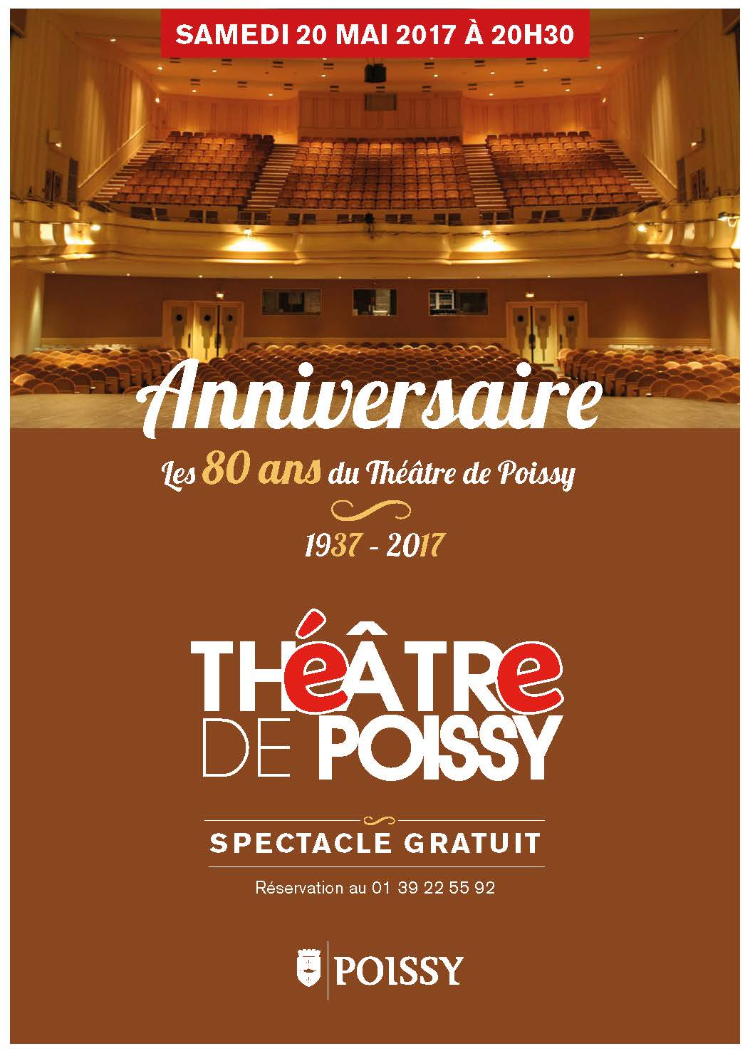Affiche spectacle 80 ans