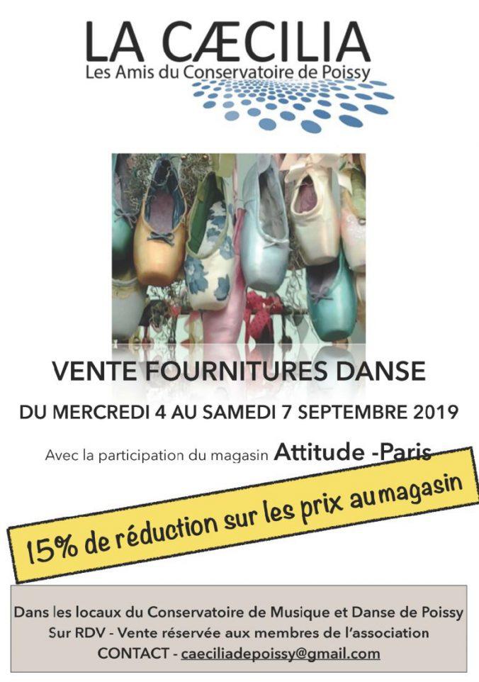 Vente fournitures 2019