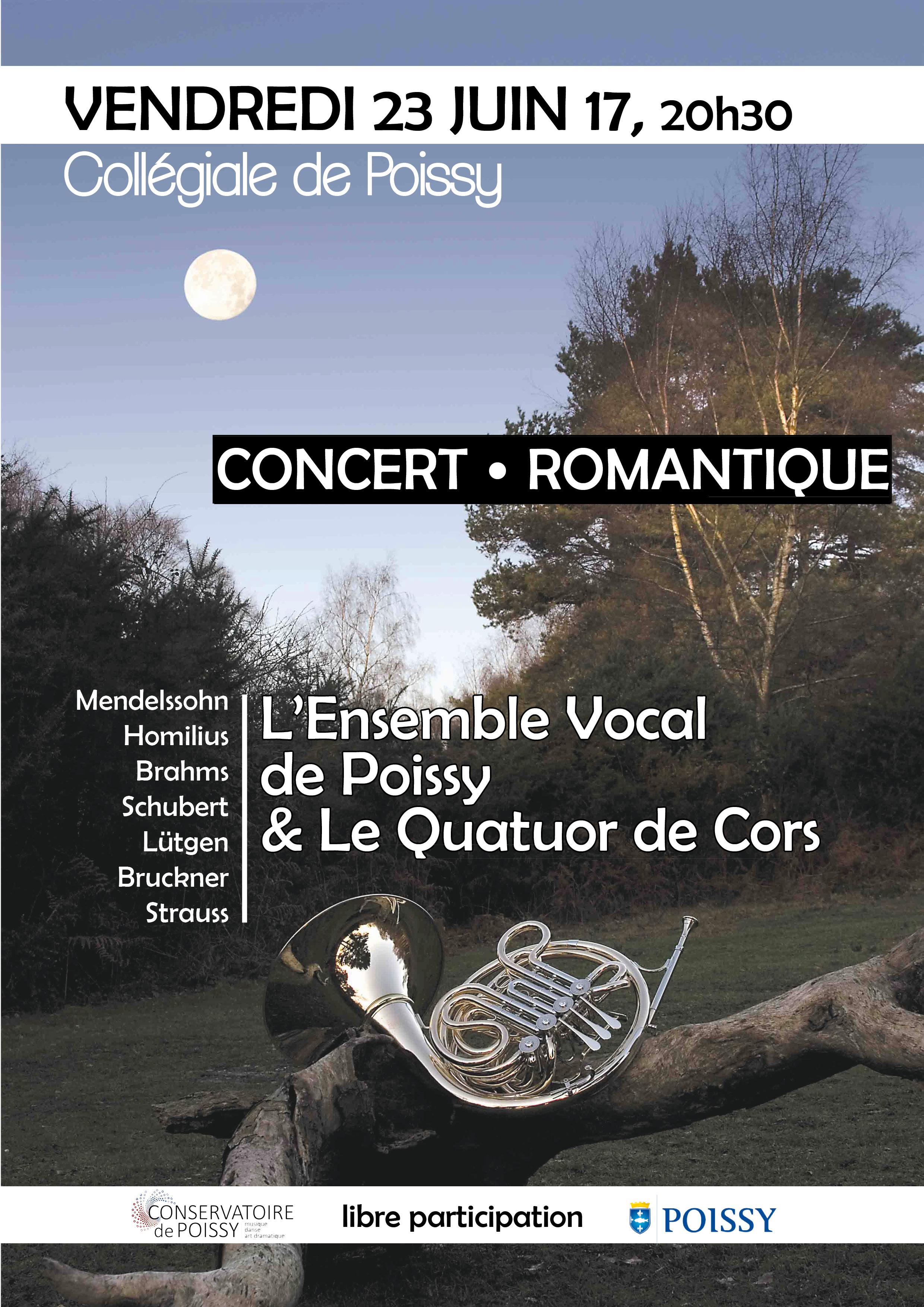 affiche concert romantique