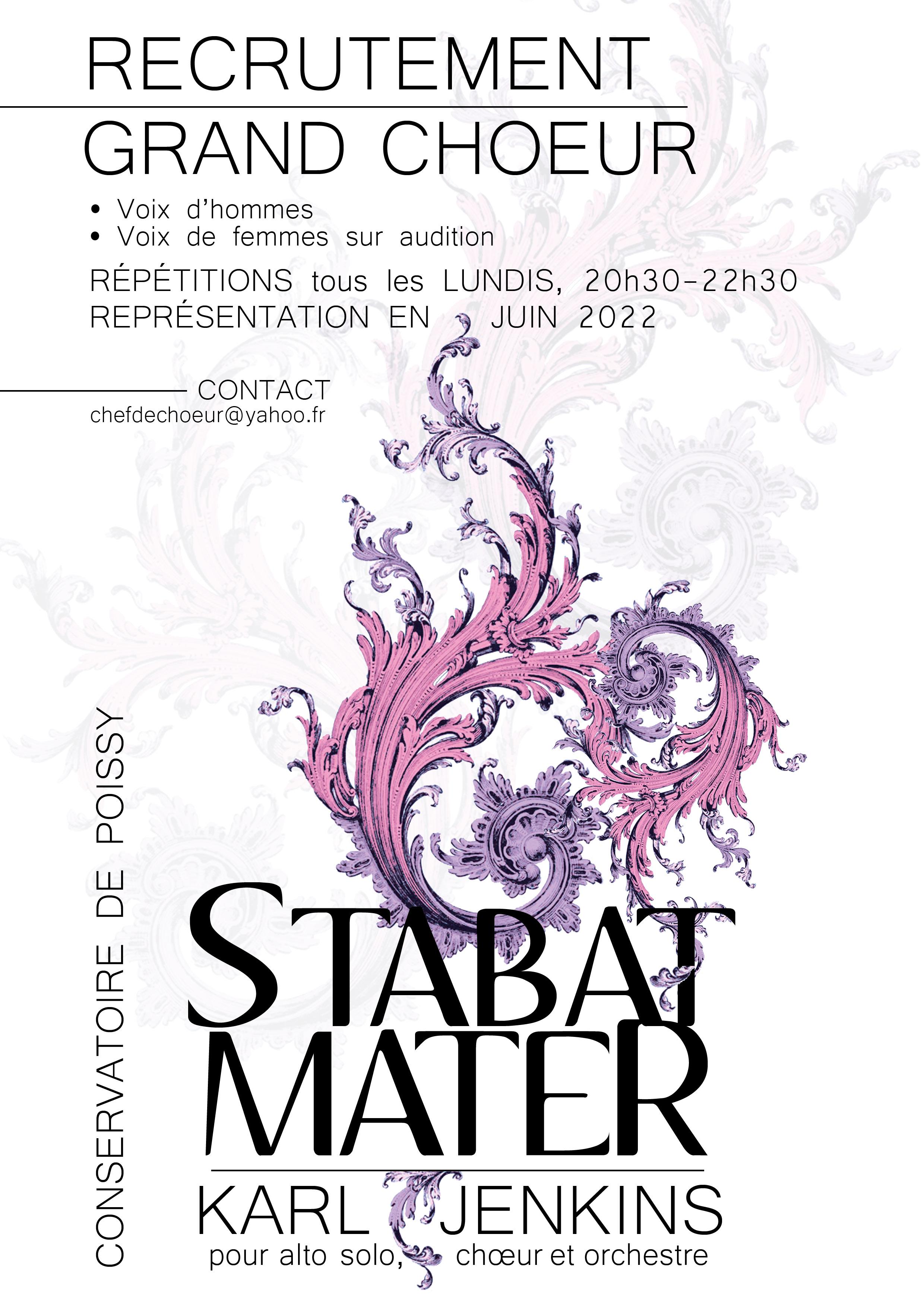 affiche recrutement STABAT MATERjuin 2021